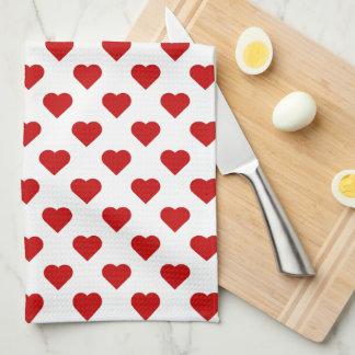 Pretty Hearts Hand Towel