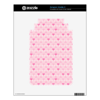 Pretty Hearts in a Line Decal For The Kindle 3