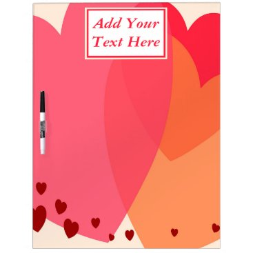 Professional Business Pretty Hearts Large Dry Erase Board