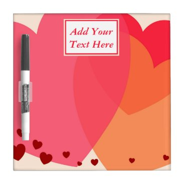 Professional Business Pretty Hearts Small Dry Erase Board