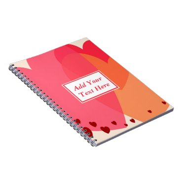 Professional Business Pretty Hearts Spiral Notebook