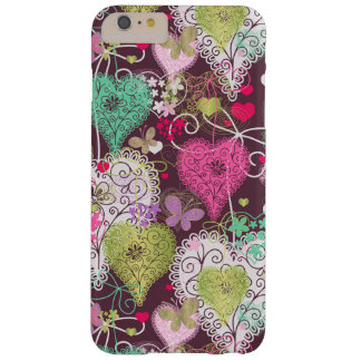 Pretty Hearts with Butterflies Barely There iPhone 6 Plus Case