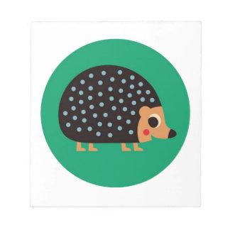 Pretty hedgehog notepad