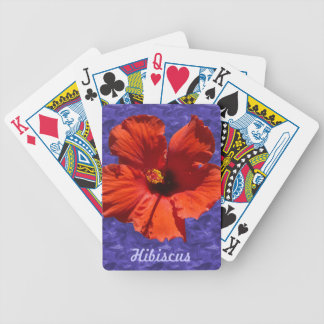Pretty Hibiscus Flower Bicycle Playing Cards