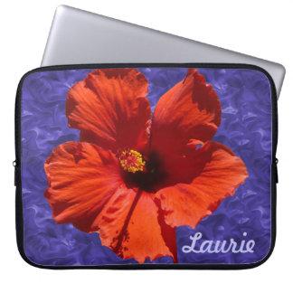 Pretty Hibiscus Flower Computer Sleeve
