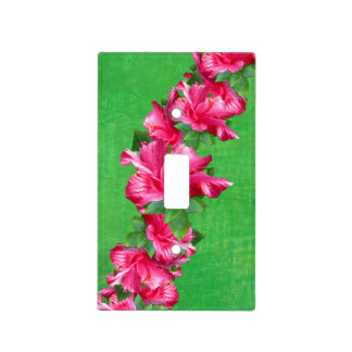 Pretty Hibiscus Hawaiian Lei Light Switch Cover