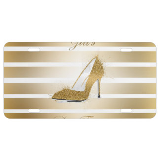"Pretty High heels shoe ""Girls best Friends"" License Plate"