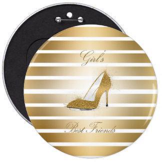 """Pretty High heels shoe """"Girls best Friends"""" Pinback Button"""