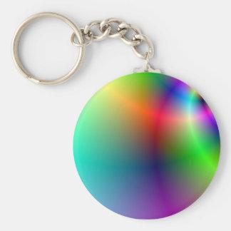 Pretty Hippie Rainbow Basic Round Button Keychain