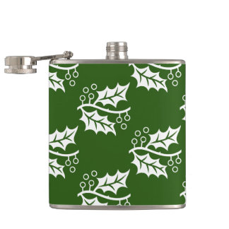 pretty HOLLY pattern Flask