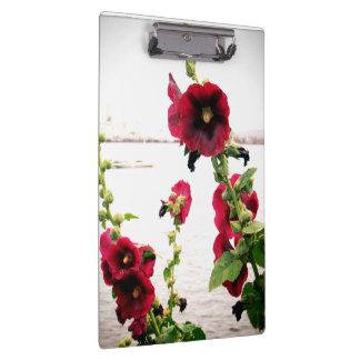Pretty Hollyhock Floral Clipboard