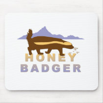 pretty honey badger mouse pad