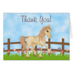 Pretty Horse and Flowers Thank You Stationery Note Card
