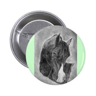 Pretty horse portrait pinback button