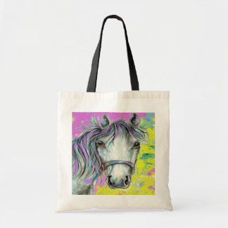 Pretty Horse with Pink Budget Tote Bag