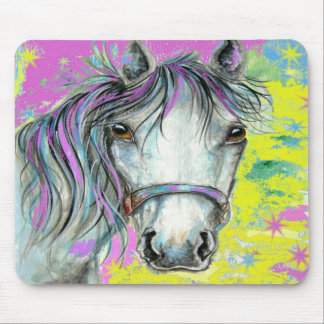 Pretty Horse with Pink Mousepads