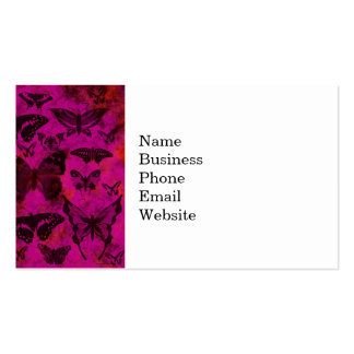 Pretty Hot Pink and Orange Butterflies Business Cards