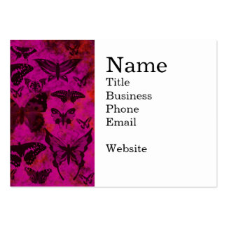 Pretty Hot Pink and Orange Butterflies Business Card