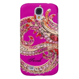 Pretty Hot Pink Bejeweled Samsung Galaxy S4 Cases