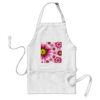 Pretty Hot Pink Fuchsia Flower Kaleidoscope Design Adult Apron