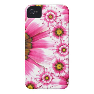 Pretty Hot Pink Fuchsia Flower Kaleidoscope Design Case-Mate iPhone 4 Case
