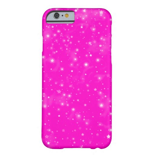 Pretty Hot Pink White Stars Pattern IPhone 6s Case