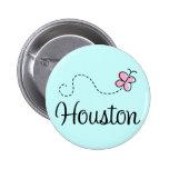Pretty Houston Texas Button