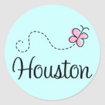 Pretty Houston Texas T-shirt Round Stickers
