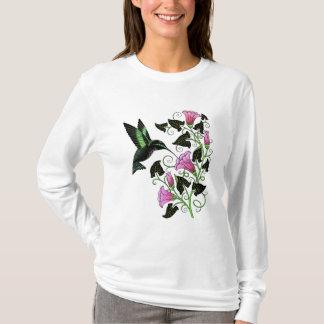 Pretty Hummingbird and Flowers T-Shirt