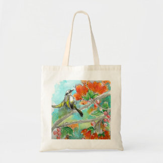 Pretty Hummingbird and Orange Blossoms Tote