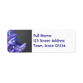 Pretty Hyacinth Return Address Label