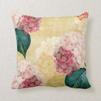 Pretty Hydrangea Floral Throw Pillow