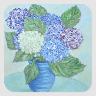 Pretty Hydrangea Painting Sticker