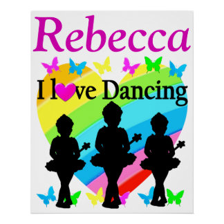 PRETTY I LOVE DANCING PERSONALIZED POSTER