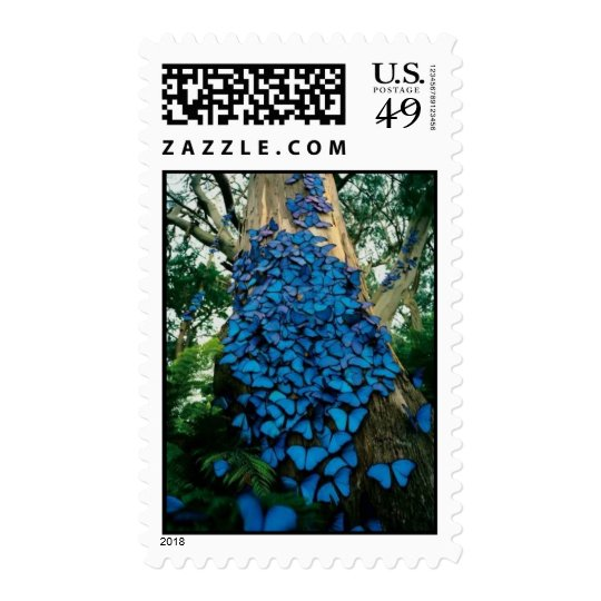 Pretty in Blue Butterfly Stamp