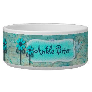 Pretty in Blue CUSTOM Name Dog Water Bowls