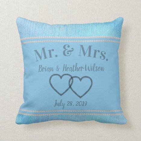 Pretty in Blue Keepsake Throw Pillow