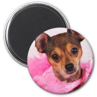 Pretty in pink 2 inch round magnet