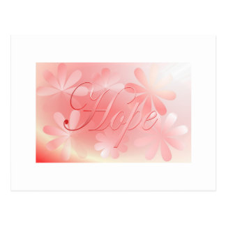 Pretty in Pink & A Shimmer of Hope Postcard