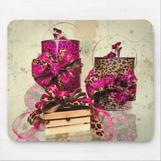 Pretty in Pink and Leopard Print Mouse Pad