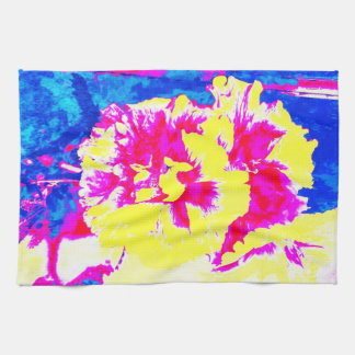 Pretty in Pink and Yellow Hand Towels