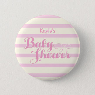 Pretty in Pink Baby Shower, Pinback Button