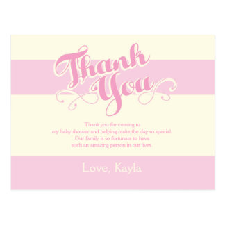 Pretty in Pink Baby Shower, Thank You Cards