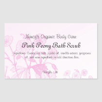 Pretty In Pink Bath Products Soap Label Rectangular Sticker