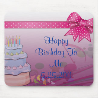 Pretty In Pink Bday Set Mouse Pad