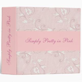 pretty in pink vinyl binders