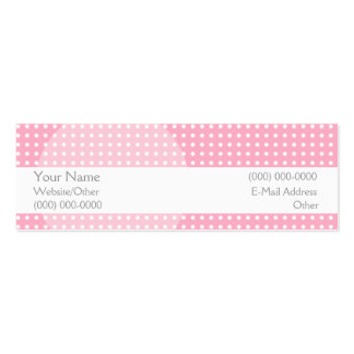 Pretty in Pink Double-Sided Mini Business Cards (Pack Of 20)