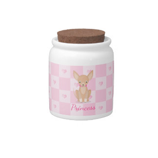 Pretty in Pink Chihuahua Candy Jar