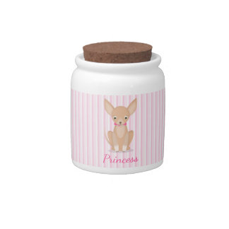 Pretty in Pink Chihuahua Candy Jars