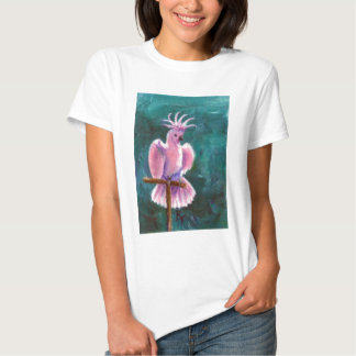 Pretty In Pink Cockatoo Ladies Shirt